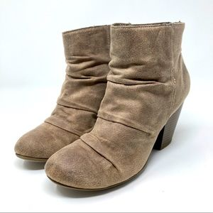 Rampage Tan Ankle Slouch Boots Women's Size 7